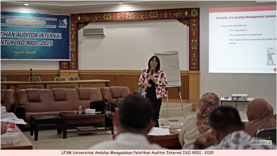 Andalas University - Producing Internal Auditors LP3M Unand Hold ISO