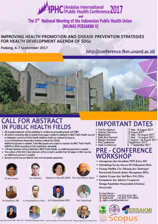 Andalas International Public Health Conference (AIPHC) 2017