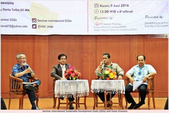 Faculty of Economic Unand Holds International Seminar SDGs and Green Economy