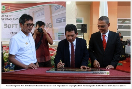 Unand Held Soft Launching Universitas Andalas Hospital