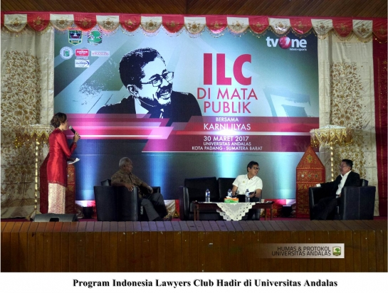 Program ILC TVOne Hadir di Universitas Andalas